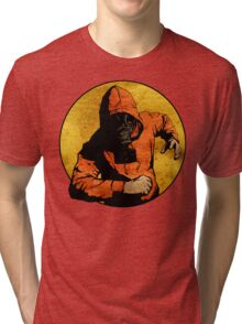 He Dodged Here And There.... Tri-blend T-Shirt