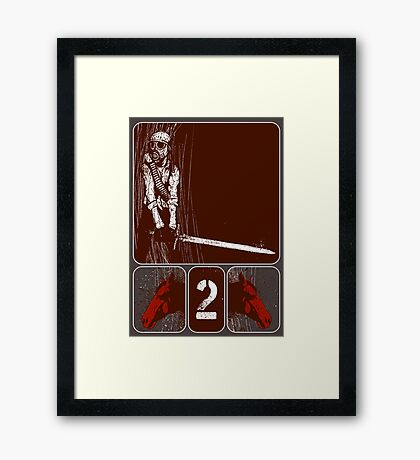 its rider was given power to take peace from the earth Framed Print
