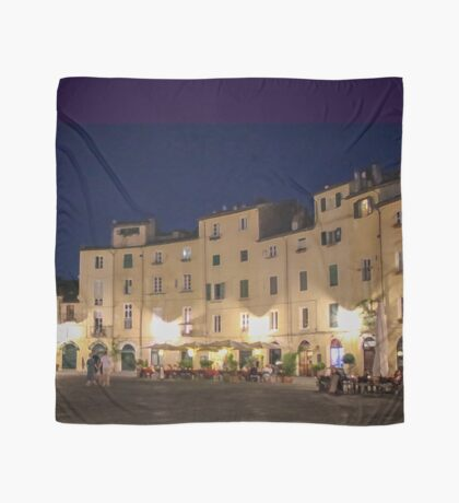 Lucca Piazza dell'Anfiteatro piazza at night Scarf