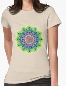 Peacock Mandala Womens Fitted T-Shirt