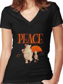 Peace Women's Fitted V-Neck T-Shirt