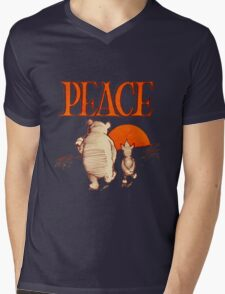 Peace Mens V-Neck T-Shirt