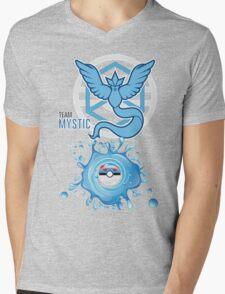 Mystic Blue Team, Pokemon GO Water/Air Mens V-Neck T-Shirt