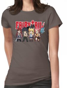 Fairy Tail Anime Group - Cute Character Womens Fitted T-Shirt