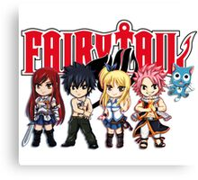 Fairy Tail Anime Group - Cute Character Canvas Print