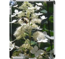 White Flower and Bee iPad Case/Skin