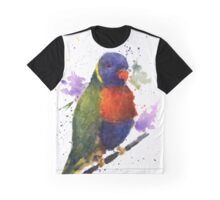 Watercolor Lorikeet at the Pet Store Graphic T-Shirt