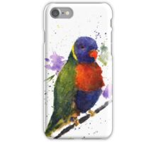 Watercolor Lorikeet at the Pet Store iPhone Case/Skin