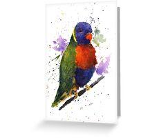 Watercolor Lorikeet at the Pet Store Greeting Card