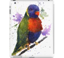 Watercolor Lorikeet at the Pet Store iPad Case/Skin