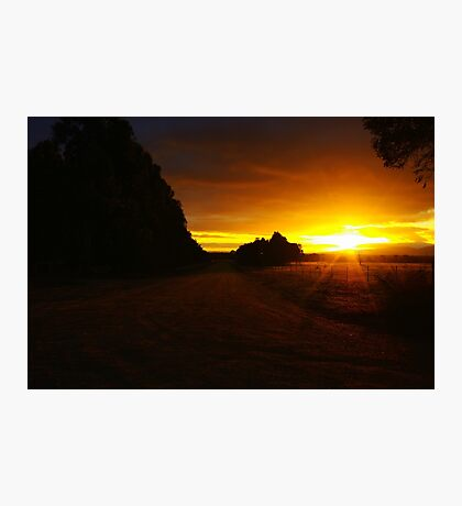 Country Sunrise Photographic Print