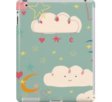 Cute clouds blue background iPad Case/Skin