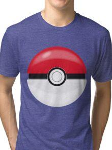 Red Pokaball, Pokemon GO  Tri-blend T-Shirt