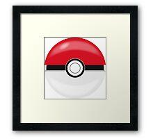 Red Pokaball, Pokemon GO  Framed Print