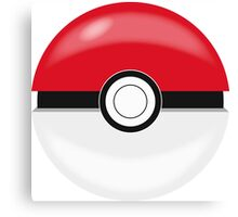 Red Pokaball, Pokemon GO  Canvas Print