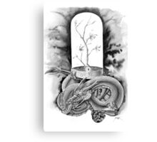 Sakura Dragon Glass in Ink Canvas Print