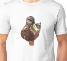 Watercolor Duck Asking for Food Unisex T-Shirt