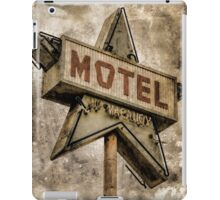 Vintage Grunge Star Motel Sign iPad Case/Skin