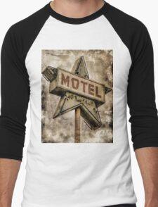 Vintage Grunge Star Motel Sign Men's Baseball ¾ T-Shirt