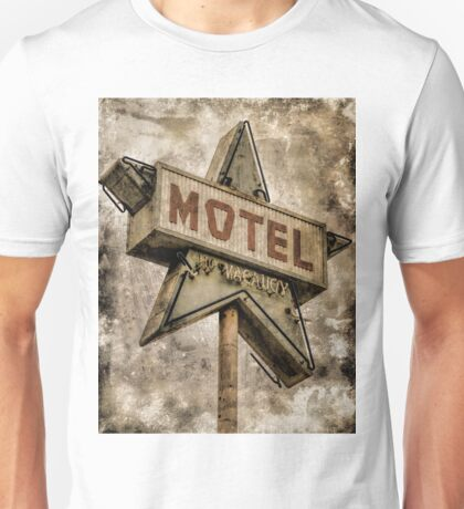 Vintage Grunge Star Motel Sign Unisex T-Shirt