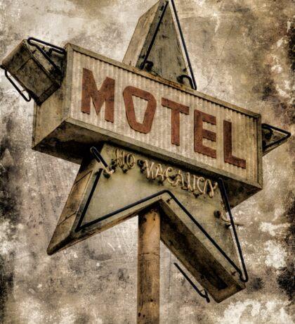 Vintage Grunge Star Motel Sign Sticker