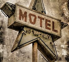 Vintage Grunge Star Motel Sign by Honey Malek