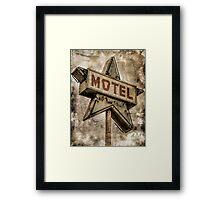 Vintage Grunge Star Motel Sign Framed Print