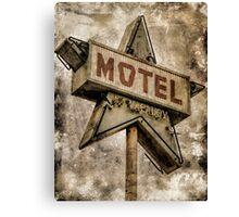 Vintage Grunge Star Motel Sign Canvas Print