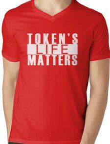 Token's Life Matters Mens V-Neck T-Shirt