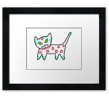 Hot Pink Cool Kitty Framed Print