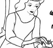 Problematic Princess Sketch Sticker