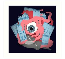 Crawling eye loses contact lens Art Print
