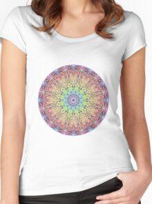 Pastel Mandala Women's Fitted Scoop T-Shirt