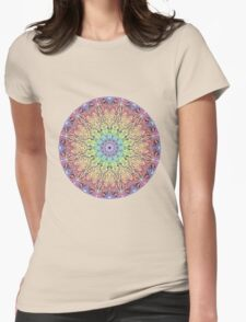 Pastel Mandala Womens Fitted T-Shirt