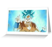 Super Saiyan Blue Goku  Greeting Card