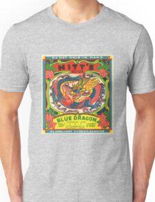 Fireworks Label - Blue Dragon Firecrackers Unisex T-Shirt