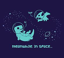Meanwhile, In Space... (Pillows & Totes) by KristyKate