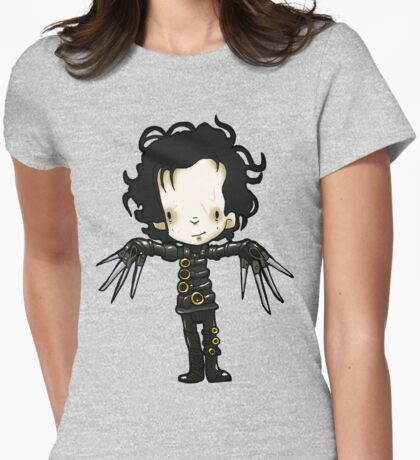 Edward with the hands of Scissors Womens Fitted T-Shirt