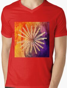 Abstract,colorful,gold,contemporary art,modern,trendy,awesome Mens V-Neck T-Shirt