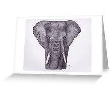 Elephant Charcoal Drawing Greeting Card