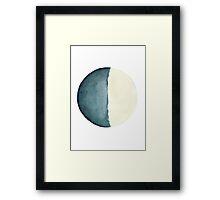 Moon Solar System Bedroom Illustration Abstract Poster Framed Print