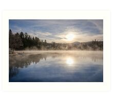 Cool November Morning Art Print
