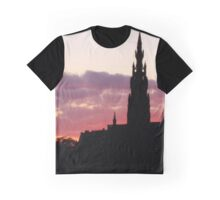 Purple Sky on Princes Street Graphic T-Shirt