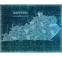 Vintage Kentucky Map Photographic Print