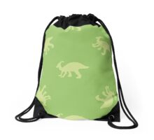 Ornament with dinosaurs Drawstring Bag