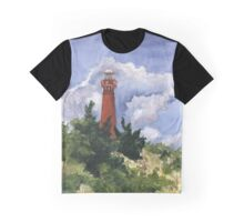 Barnegat Light in Watercolor Graphic T-Shirt