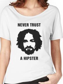 Charlie Manson Never Trust A Hipster Women's Relaxed Fit T-Shirt