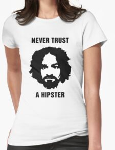Charlie Manson Never Trust A Hipster Womens Fitted T-Shirt