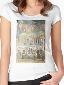 Voronet Church 2. As Bellow So Above Women's Fitted Scoop T-Shirt