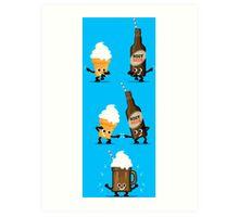 Character Fusion - Root Beer Float Art Print